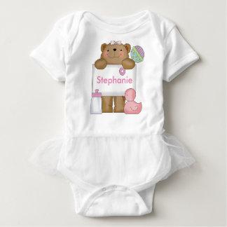 Body Para Bebé El oso personalizado de Stephanie