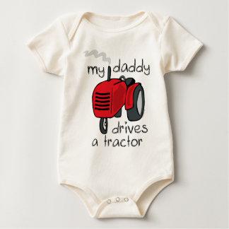 Body Para Bebé El papá conduce un tractor