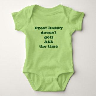 Body Para Bebé El papá de la prueba no golf todo el tiempo
