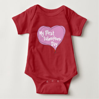 Body Para Bebé El primer día de San Valentín del bebé