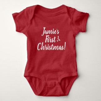 Body Para Bebé El primer navidad del bebé, personalizado,