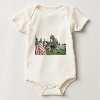 Body Para Bebé El soldado visita sepulcros el Memorial Day