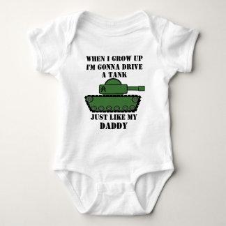 Body Para Bebé El tanque militar
