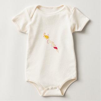 Body Para Bebé El TATUAJE ROJO del ORO DE LUJO adorna a la gente