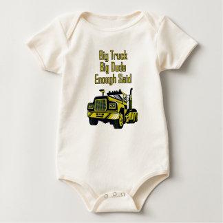 Body Para Bebé El tipo grande del camión grande bastante dijo