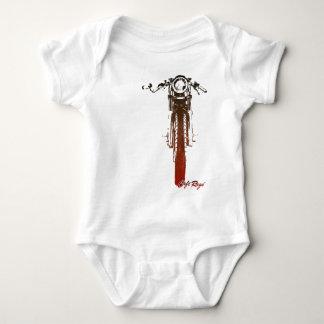 Body Para Bebé El vintage rojo de frente del corredor del café