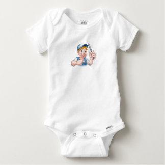 Body Para Bebé Electricista de la manitas del dibujo animado que