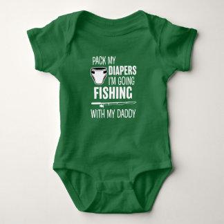 Body Para Bebé Embale mis pañales que soy pesca que va con mi