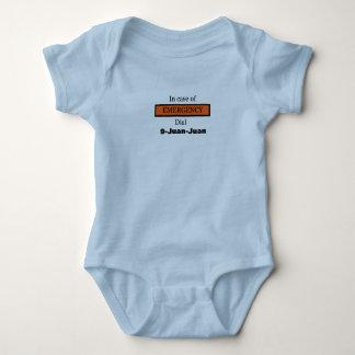 Body Para Bebé En caso de urgencia dial 9-Juan-Juan