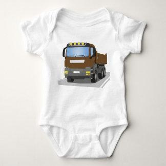 Body Para Bebé en obras marrones CAMIÓN
