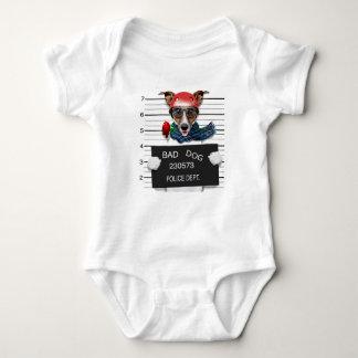 Body Para Bebé Enchufe divertido Russell, perro del Mugshot