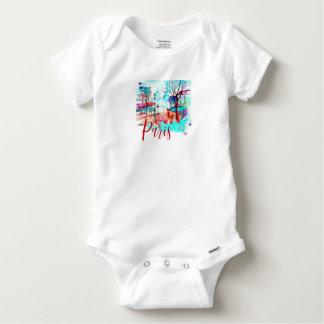 Body Para Bebé Encuéntreme en acuarela de la torre Eiffel de