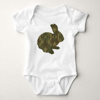 Body Para Bebé Enredadera del conejito de pascua de la silueta