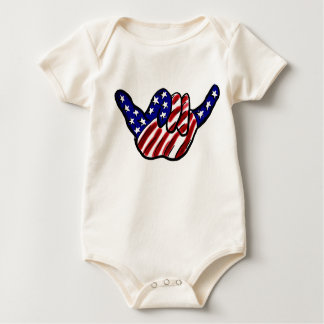 Body Para Bebé Enredadera floja del bebé de la caída patriótica