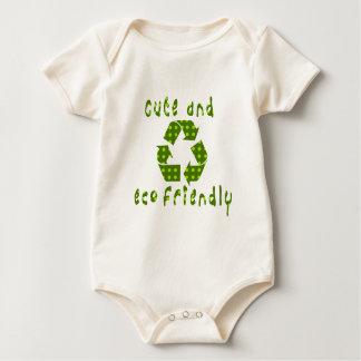 Body Para Bebé Equipo amistoso del bebé de los niños de Eco