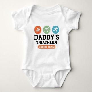 Body Para Bebé Equipo de la alegría del Triathlon del papá