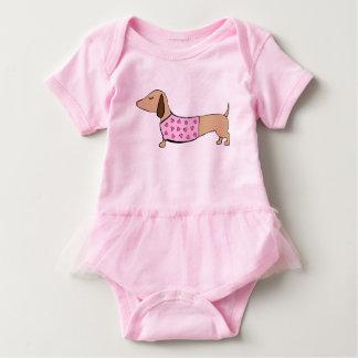 Body Para Bebé Equipo de una pieza de la bailarina del tutú del