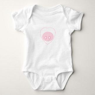 Body Para Bebé Equipo de una pieza infantil del amor del cerdo