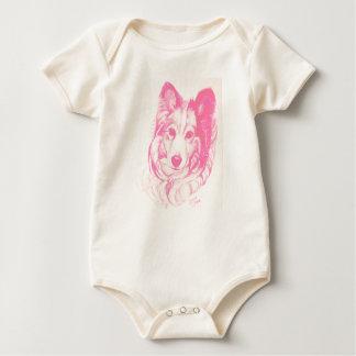 Body Para Bebé Equipo del bebé del perro de Sheltie por el