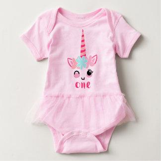 Body Para Bebé Equipo del cumpleaños del unicornio del mono del