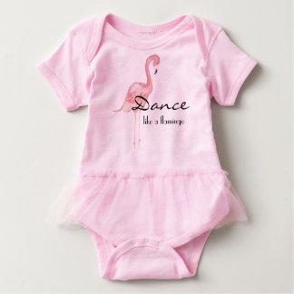 Body Para Bebé Equipo rosado del bebé del flamenco con el tutú