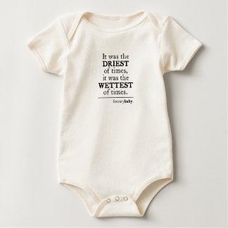 Body Para Bebé Era el más seco de épocas, el más mojado de épocas