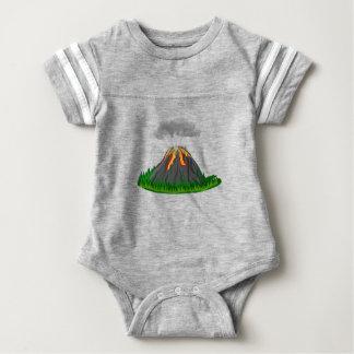 Body Para Bebé erupción y fuego del volcán