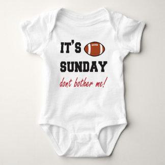 Body Para Bebé ¡Es domingo no me molesta! mono del bebé