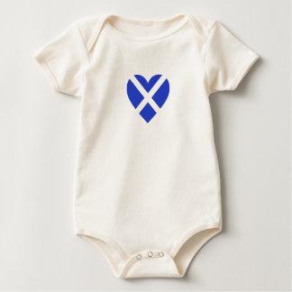 Body Para Bebé Escocia/corazones Bandera-Inspirados escoceses