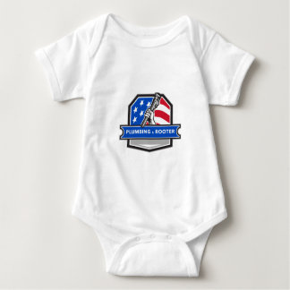 Body Para Bebé Escudo de la bandera de los E.E.U.U. de la llave