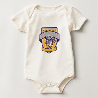 Body Para Bebé Escudo de la cabeza del vaquero del sheriff del