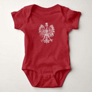Body Para Bebé Escudo de Polonia del bebé del vintage