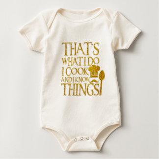 Body Para Bebé Eso es lo que lo hago yo cocino y sé cosas