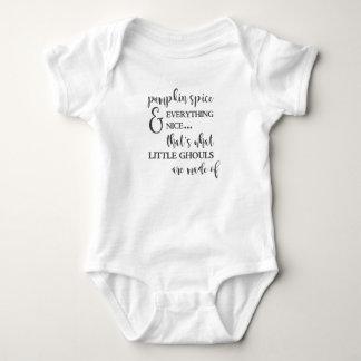 Body Para Bebé Especia y todo de la calabaza Niza mono del bebé
