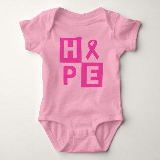 Body Para Bebé Esperanza rosada de la cinta