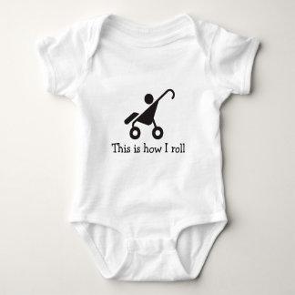 Body Para Bebé Éste es cómo ruedo. Onsie infantil. Blanco