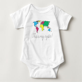 Body Para Bebé Éste es mi mono del bebé del mapa del mundo de la