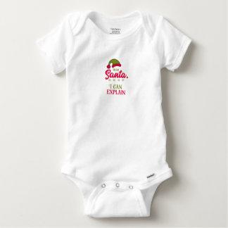 Body Para Bebé Estimado Santa, puedo explicar