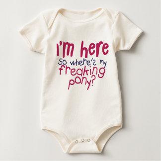 Body Para Bebé Estoy aquí enredadera de 2 bebés