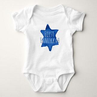Body Para Bebé Estrella azul de la acuarela de David con el texto