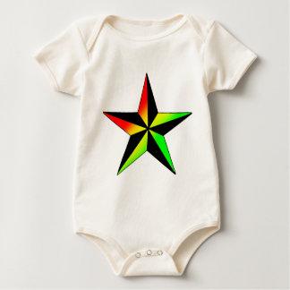 Body Para Bebé Estrella de Rasta