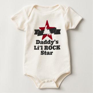 Body Para Bebé Estrella del rock de Li'l (papá)