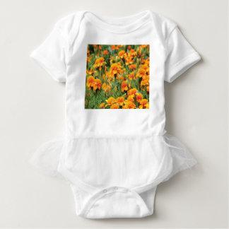 Body Para Bebé explosión del color anaranjado