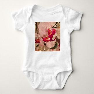 Body Para Bebé Extracto rojo y blanco de la orquídea
