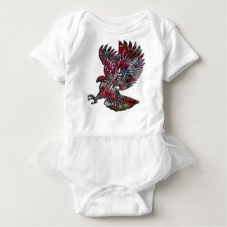 Body Para Bebé Falso Eagle tribal metálico abstracto