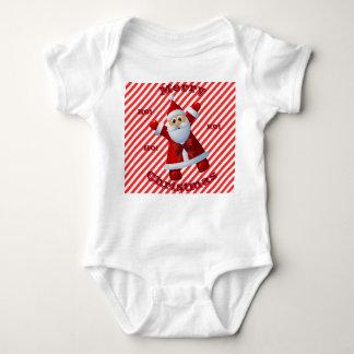 Body Para Bebé ¡Felices Navidad HO! ¡HO! ¡HO! Bastón de caramelo