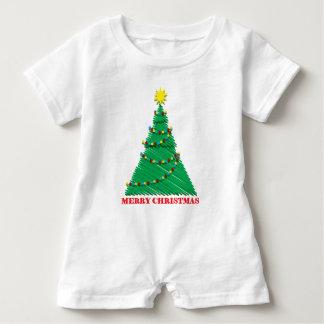 Body Para Bebé Feliz movimiento incompleto del árbol de navidad