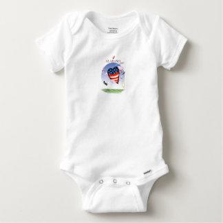Body Para Bebé fernandes tony ruidosos y orgullosos de Alabama,
