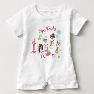 Body Para Bebé Fiesta lindo del tratamiento de la belleza del
