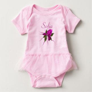 Body Para Bebé Flor del vector personalizada
